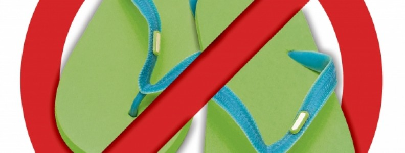 7 Reasons you should leave your flip flops in the wardrobe